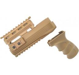 KING ARMS AK47S 戰術型前托及手握 V2-沙色