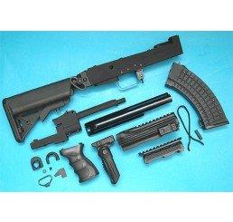 G&P AK 戰術型改裝套件 (伸縮電池尾托)(黑色)