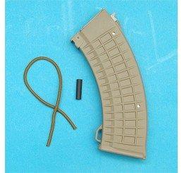 G&P AK47 Waffle Pattern彈夾 (泥色)(150發) (雙列式)