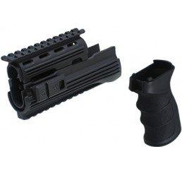 KING ARMS AK47S 戰術型前托及手握-黑色