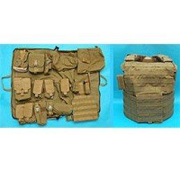 G&P CIRAS M14系列戰術背心連袋包 (泥色)