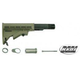 GUARDER AR-15/M4 真鎗伸縮托-軍綠色(六定位)