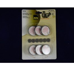 白粉末上蓋及膠塞6件 White Powder Disc+Rubber Seal 6pcs.