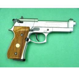 P.Beretta M92FSCO2 GUNS-銀色木柄