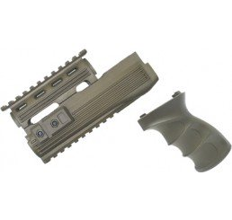 KING ARMS AK47S 戰術型前托及手握 V2-軍綠色