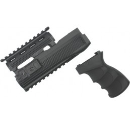 KING ARMS AK47S 戰術型前托及手握 V2-黑色