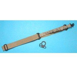G&P CQB/R鎗帶扣連Bungee鎗帶(沙色)(伸縮電池尾托用)