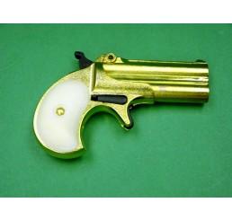 HUASHAN Derringer 8mm 金色瓦斯掌心雷Prop Guns