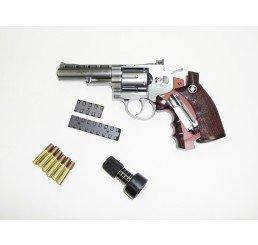 "WG - CO2 4"" 左輪GAS GUNS-銀色"