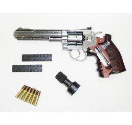 "WG - CO2 6"" 左輪GAS GUNS-銀色"
