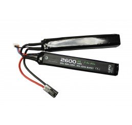 WE BATTERY 2600MAH 7.4V 20C LIPO NUNCHUCK