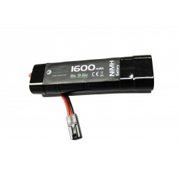 WE BATTERY 1600MAH 9.6V NIMH SMALL TYPE