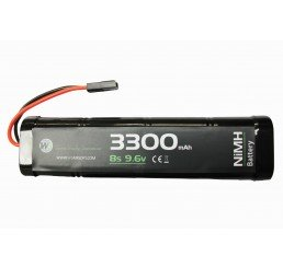 WE BATTERY 3300MAH 9.6V NIMH LARGE
